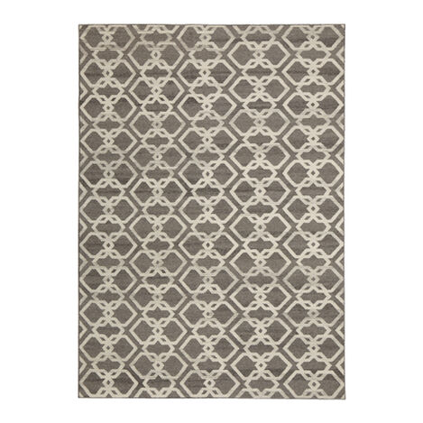 Interlock Rug, Gray/Ivory ,  , large