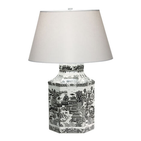 Hexagon Porcelain Table Lamp ,  , large