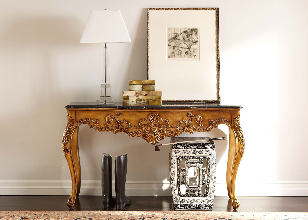 joelle marble console | console tables