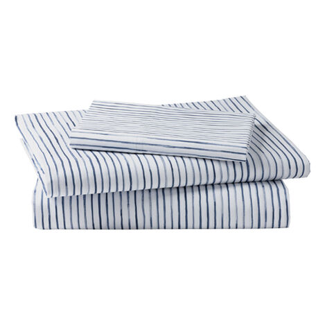 Paint Stripe Sheet Set, Midnight ,  , large