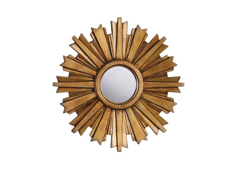 Mini Gold Starburst Mirror ,  , large_gray