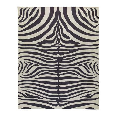 Nova Zebra Rug, Grey/Ivory ,  , large