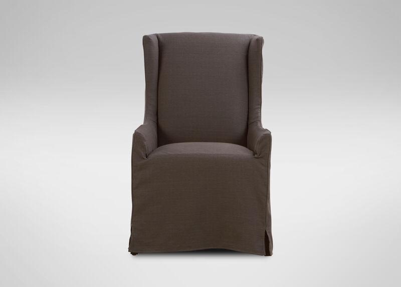 Larkin Slipcovered Host Chair Arm Host Chairs