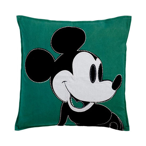 Color Block Mickey Pillow, Shamrock ,  , large