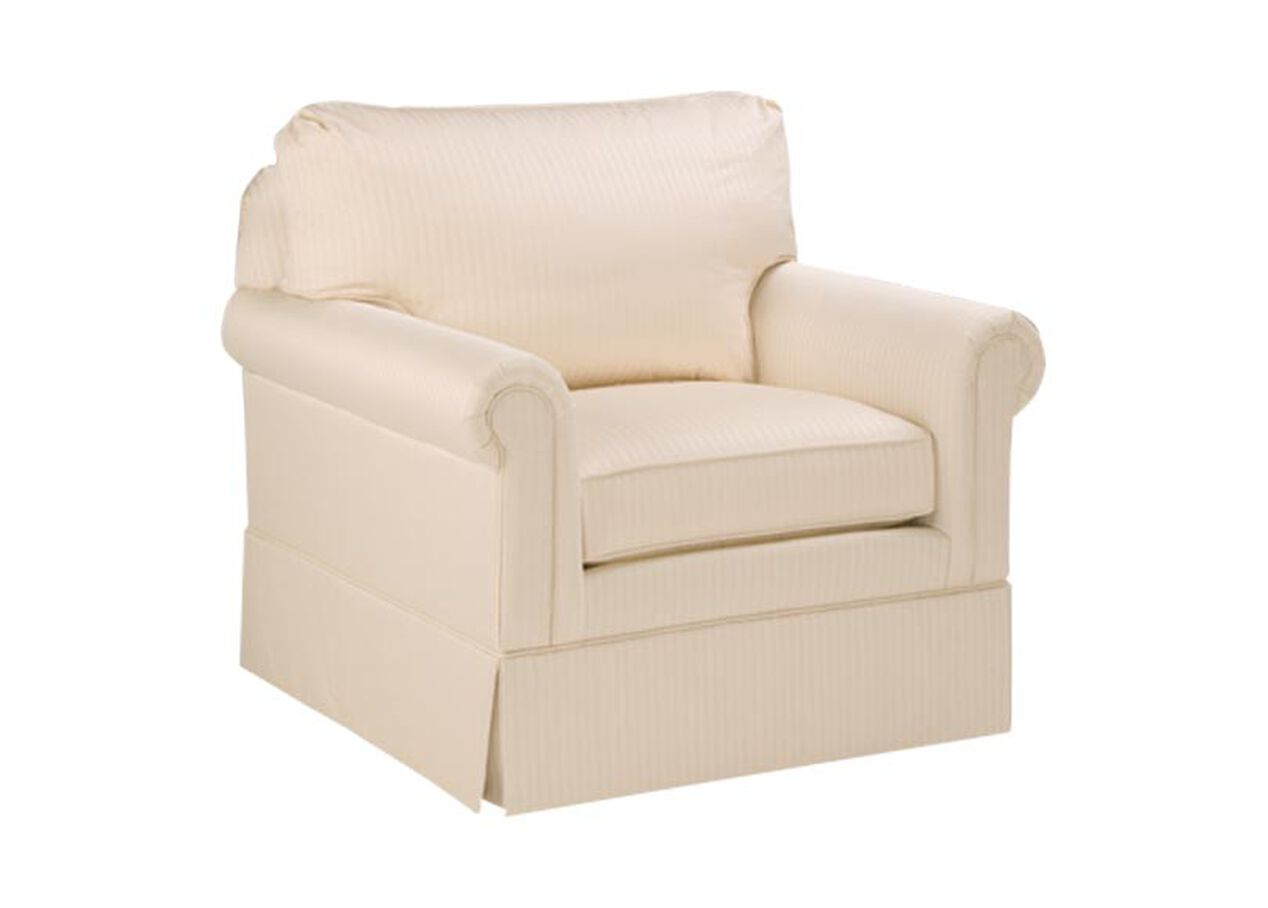 Paramount panel arm swivel chair chairs chaises - Swivel arm chairs living room ...