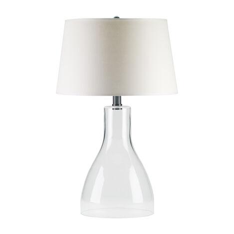 Nouveau Clear Glass Table Lamp ,  , large