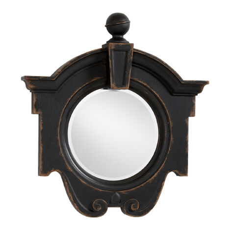 Antique Black Gisele Mirror ,  , large