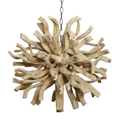 Large Minetto Wood Pendant ,  , large