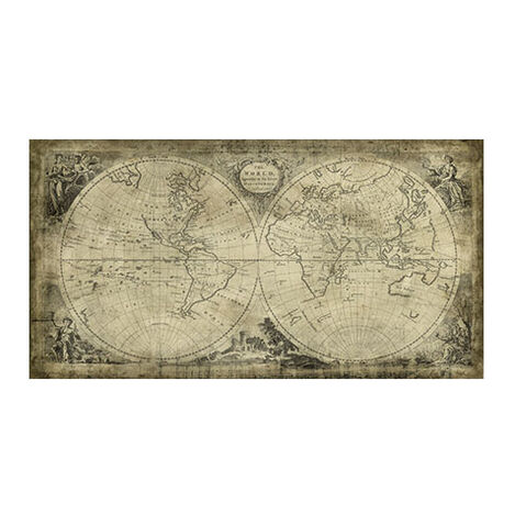World Map II Vintage ,  , large
