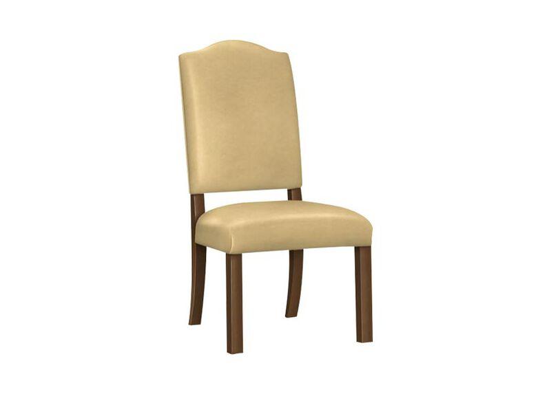 Hadley Parson-Leg Leather Side Chair ,  , large_gray
