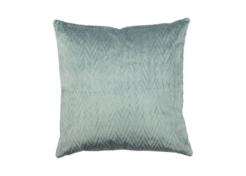 Chevron Velvet Pillow ,  , large_gray