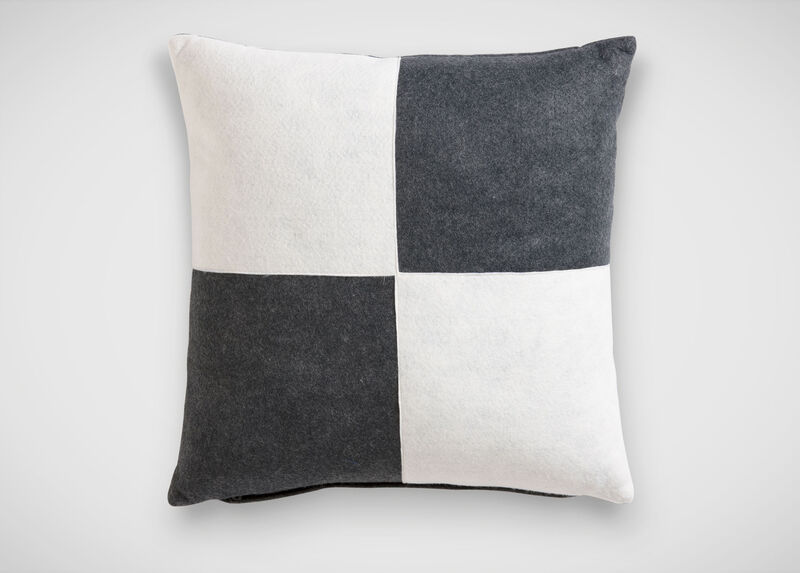 Charcoal and White Quad Pillow ,  , large_gray