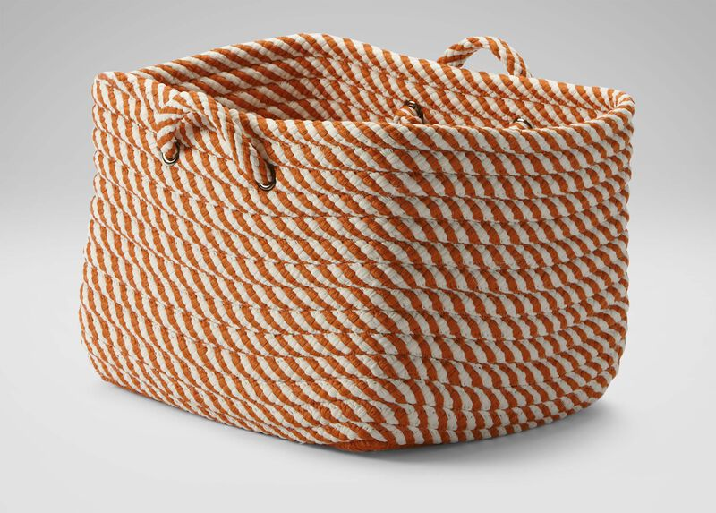 Large Orange and White Basket ,  , large_gray