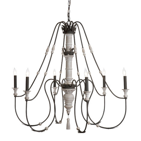 Declan Whitewashed Chandelier ,  , large