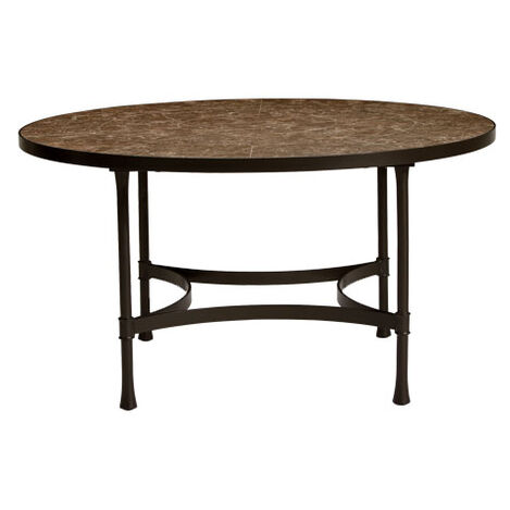 Biscayne Round Dining Table with Dark Porcelain Top , , large - Shop Outdoor Dining Outdoor Furniture Collections Ethan Allen