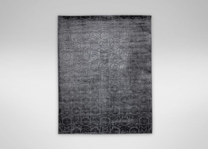 Floral Jacquard Rug, Charcoal ,  , large_gray