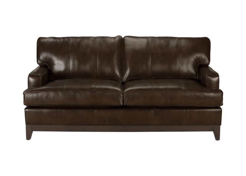 Arcata Leather Sofa, Quick Ship ,  , large_gray