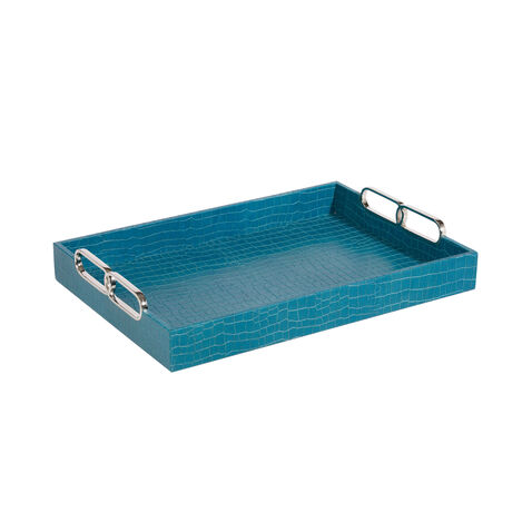 Rectangular Turquoise Tray ,  , large