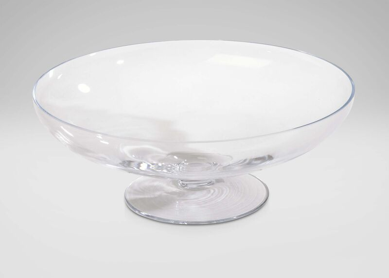 Footed Glass Bowl ,  , large_gray