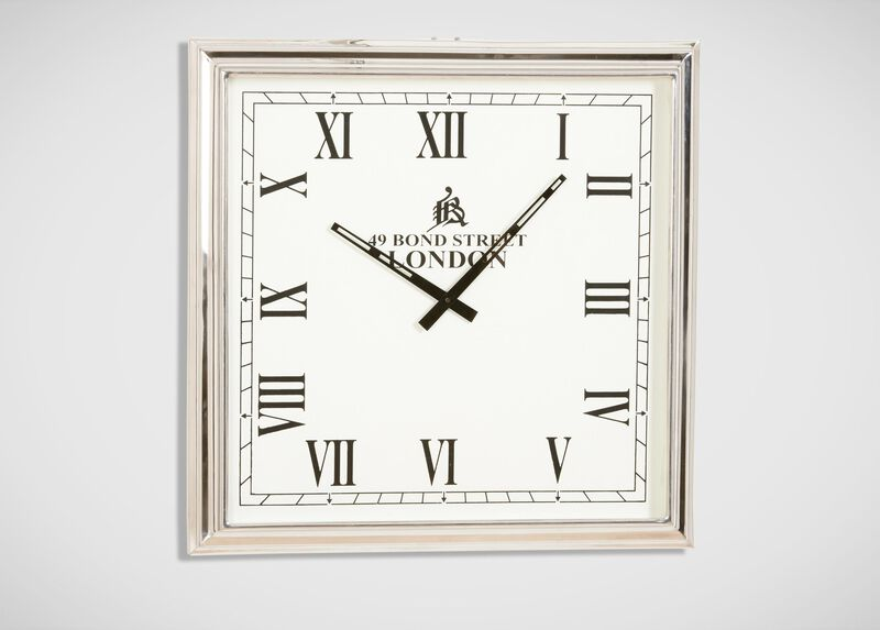 Nickel Square Wall Clock ,  , large_gray