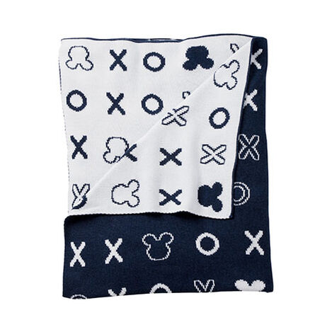 Hugs and Kisses Knit Stroller Blanket, Midnight ,  , large