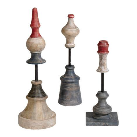Rowan Wood Finials ,  , large