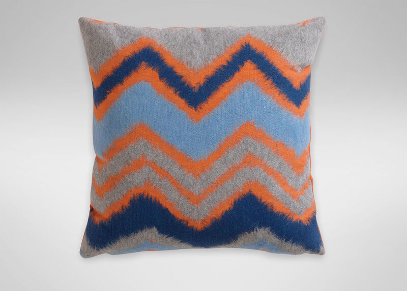 Zigzag Chevron Pillow, Orange/Blue ,  , large_gray