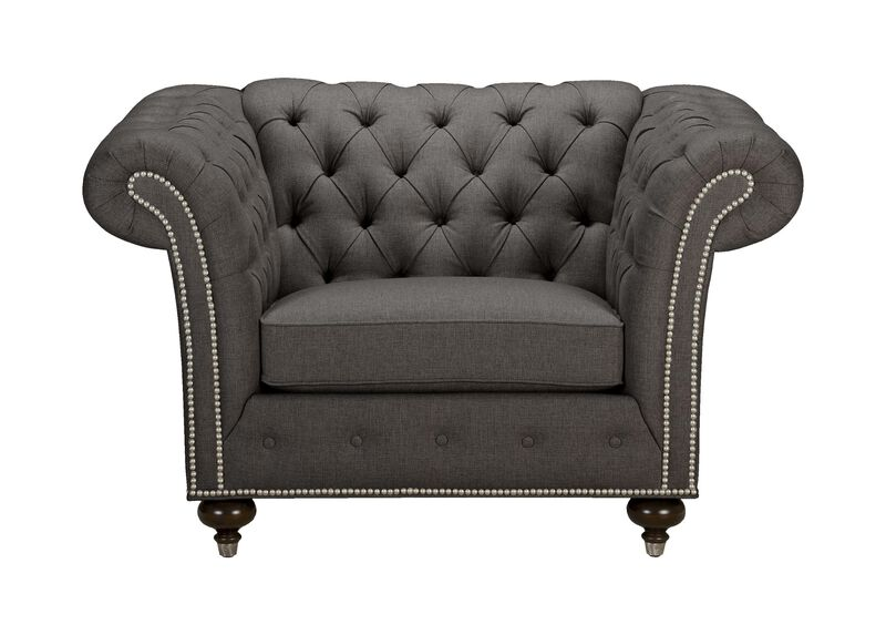 Mansfield Chair, Quick Ship , Hailey Charcoal (Q1055), solid texture , large_gray