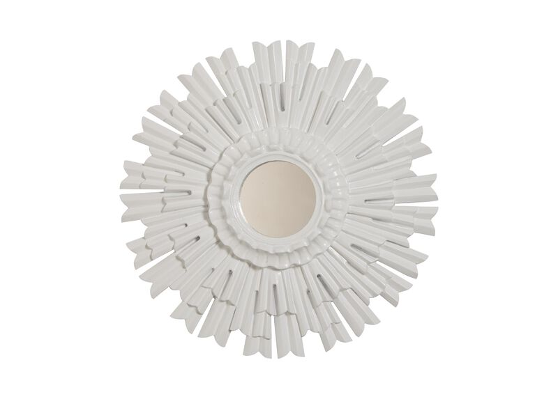 "20"" White Sunburst Mirror ,  , large_gray"