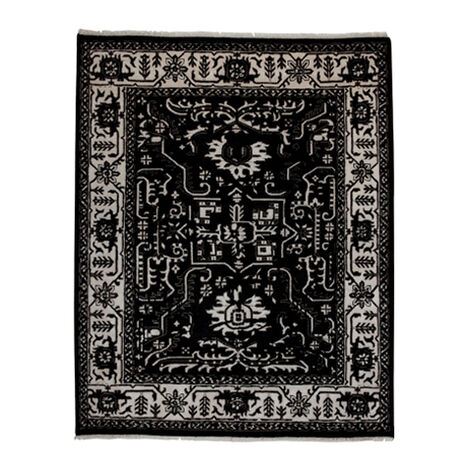 Heriz Deconstructed Rug, Black/Ivory ,  , large