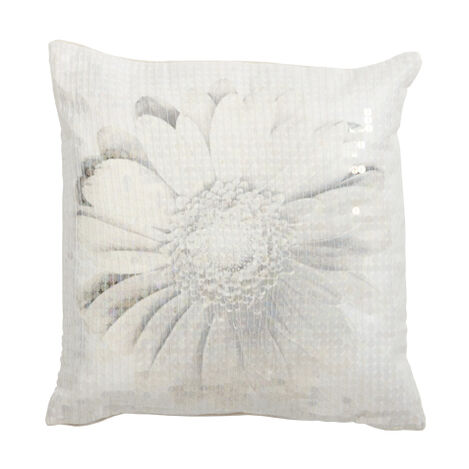 Gray Daisy Pillow ,  , large