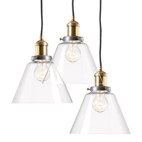 Kinsey Cone Three-Light Pendant ,  , large