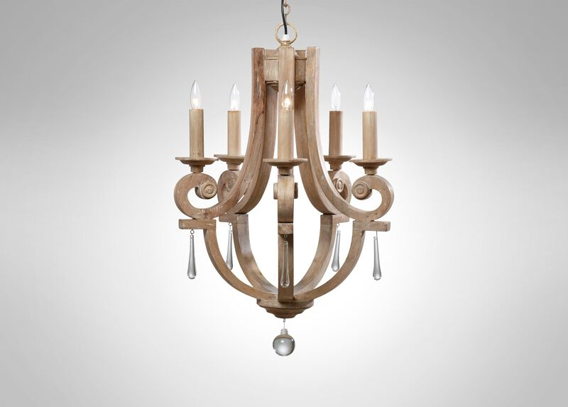 Ivory Lisi Chandelier ,  , large_gray