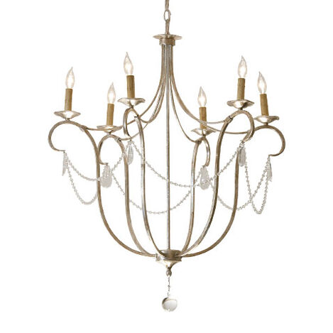Cali Aged Silver Chandelier ,  , large