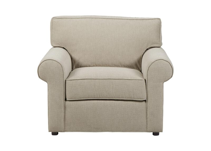 Retreat Roll-Arm Chair, Quick Ship , Palmer Pearl (Q3039), chenille , large_gray