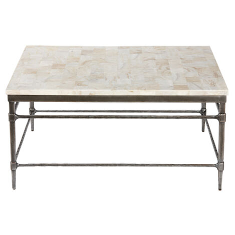 Vida Square Stone-Top Coffee Table ,  , large