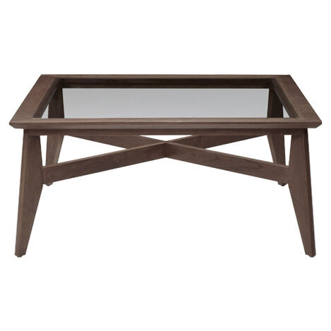 Trevor Glass-Top Coffee Table, Earl Gray , , large - Shop Coffee Tables Living Room Tables Ethan Allen