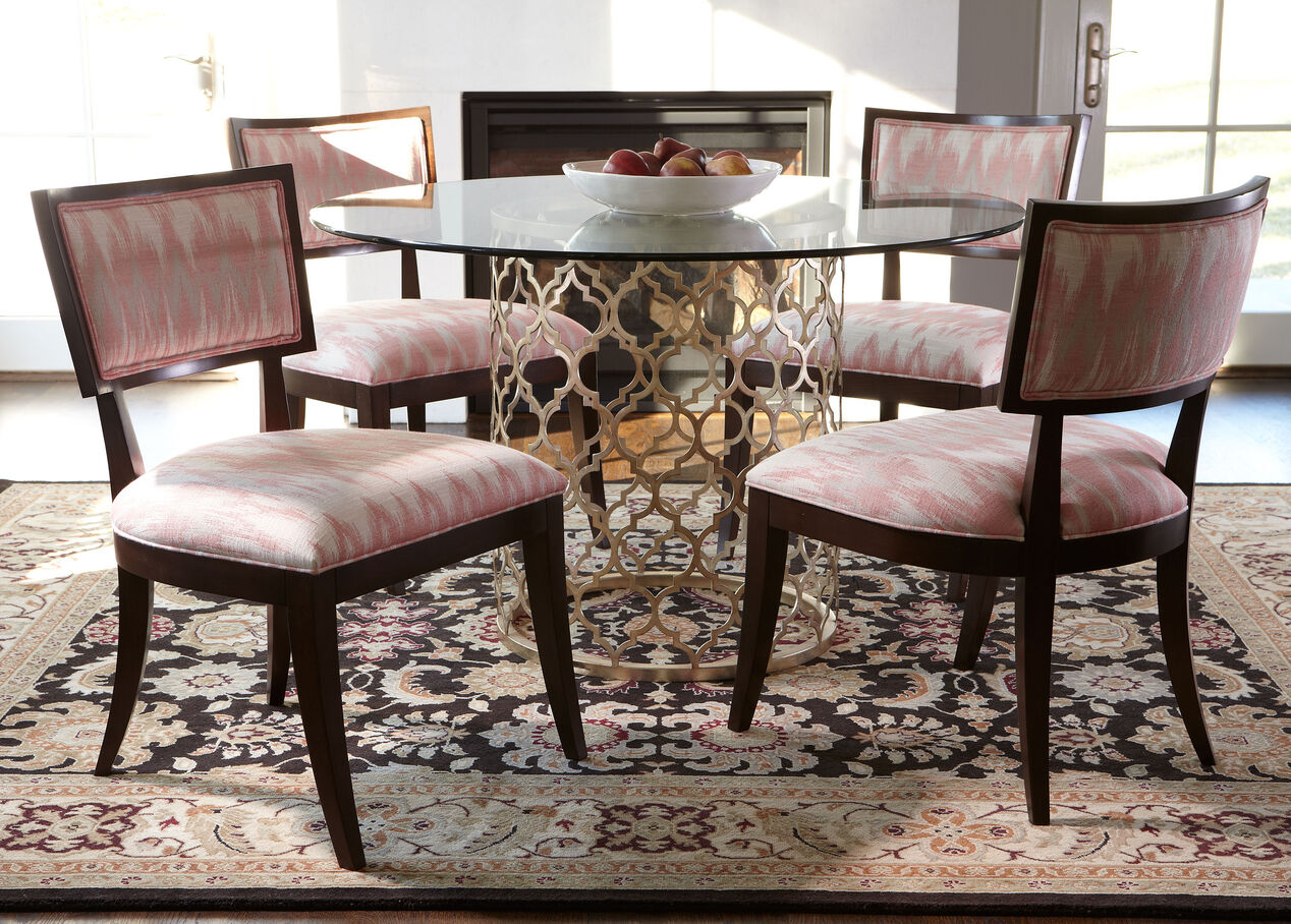 Tracery dining table ethan allen for Table rrq 2015 52