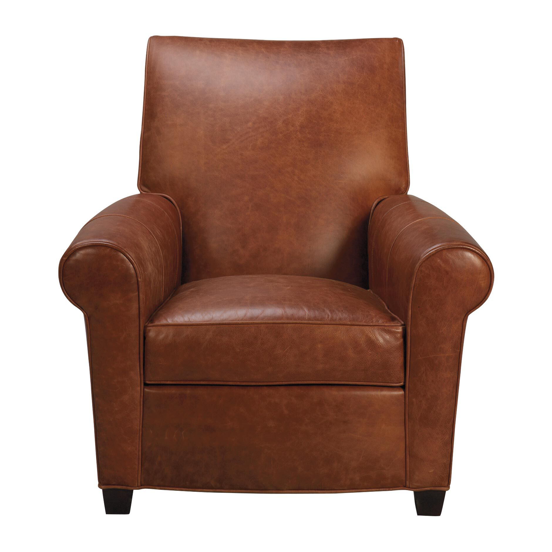 bentley leather chair large - Brown Leather Club Chair