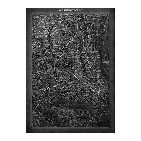 Washington DC Map Black ,  , large