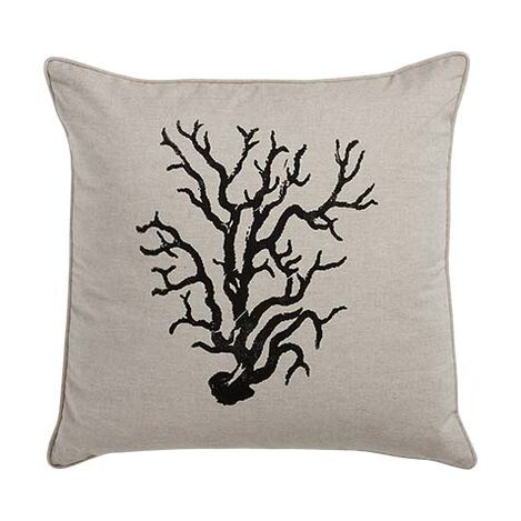 Block-Printed Coral Pillow ,  , large