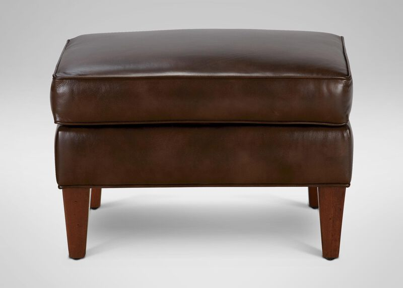 Collin Leather Ottoman ,  , large_gray