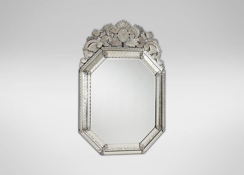 Large Ornate Venetian Mirror ,  , large_gray