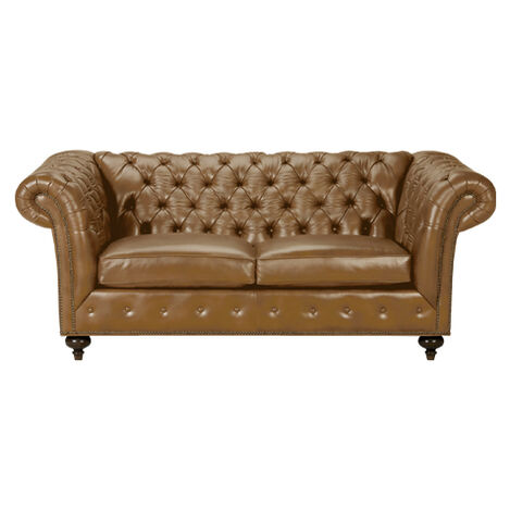 """Mansfield 77"""" Leather Sofa, Quick Ship, Omni Camel ,  , large"""