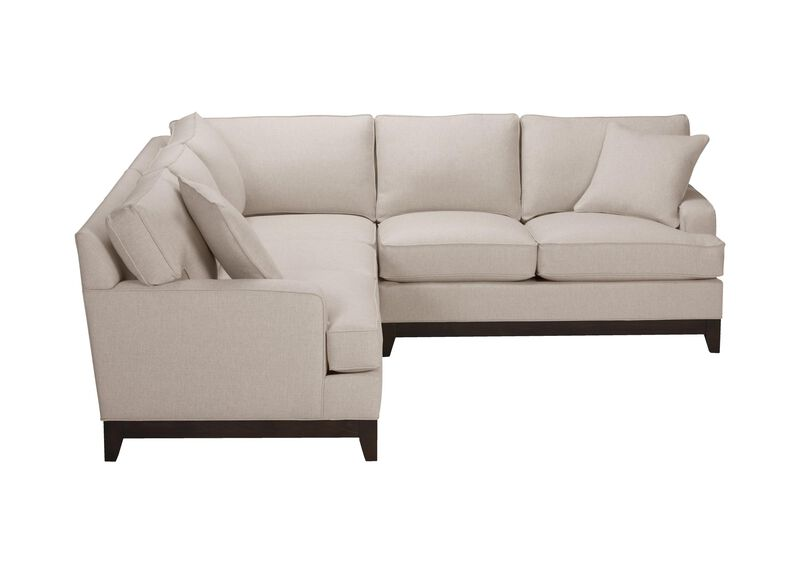 Arcata Three Piece Sectional, Quick Ship , Hailey Oatmeal (Q1033), solid texture , large_gray