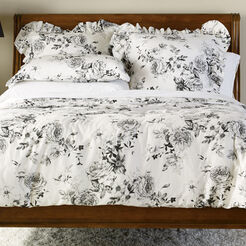 Ava Rose Linen Duvet Cover and Shams ,  , large