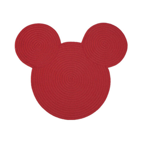 Braided Mickey Mouse Rug , , Large