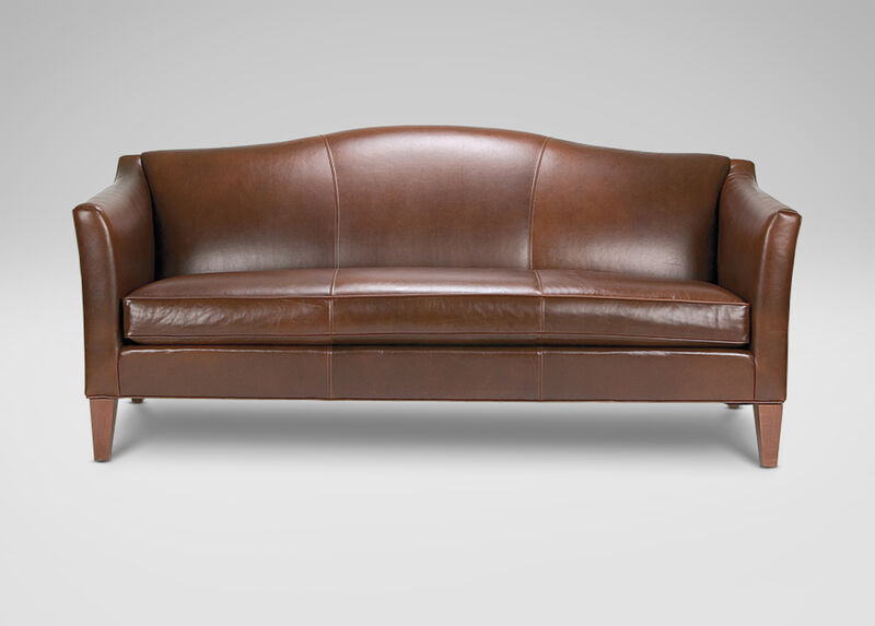 Hartwell bench cushion leather sofa ethan allen for Cushions for leather sofas