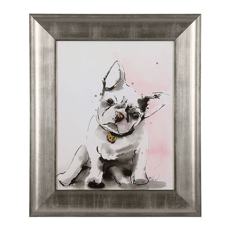 Glamour Dog Sketch II, Silver ,  , large