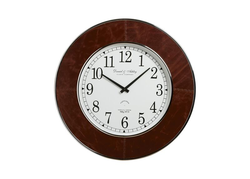 Leather Wall Clock ,  , large_gray